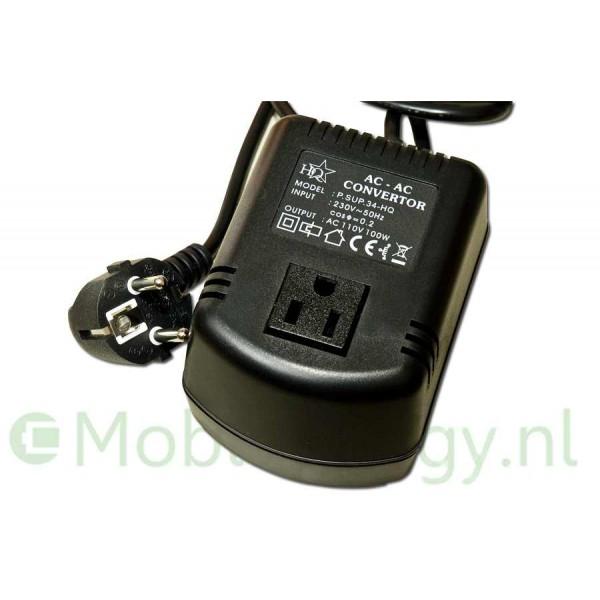 Omvormer 230 naar 110 volt 100 watt