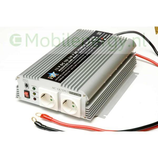 HQ 12 naar 230 volt omvormer, 1000 watt