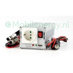 HQ 12 naar 230 volt omvormer met USB, 350 watt