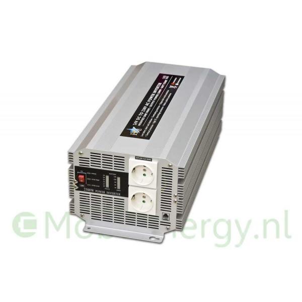 HQ 12 naar 230 volt omvormer, 2500 watt