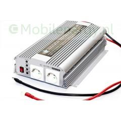 HQ 12 naar 230 volt omvormer met acculader en automaat, 1000 watt