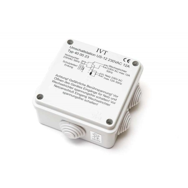 230 volt omschakel automaat voor omvormers
