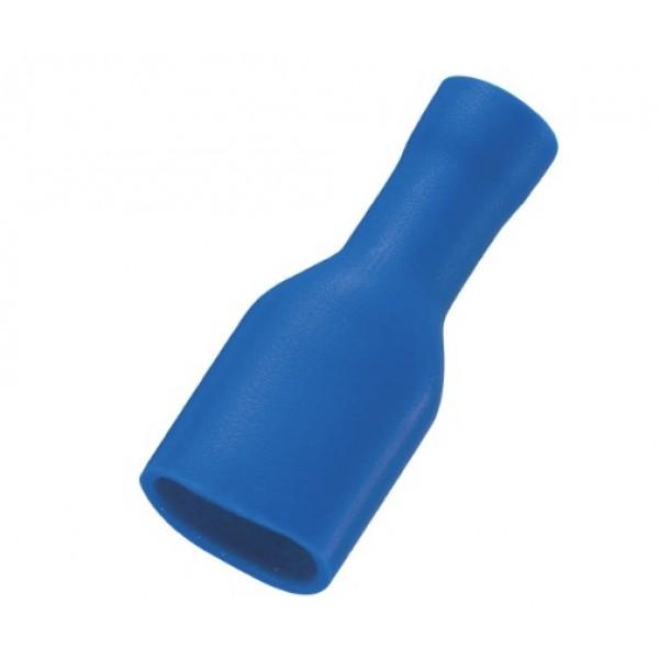 Vlakstekker 6.3 mm blauw