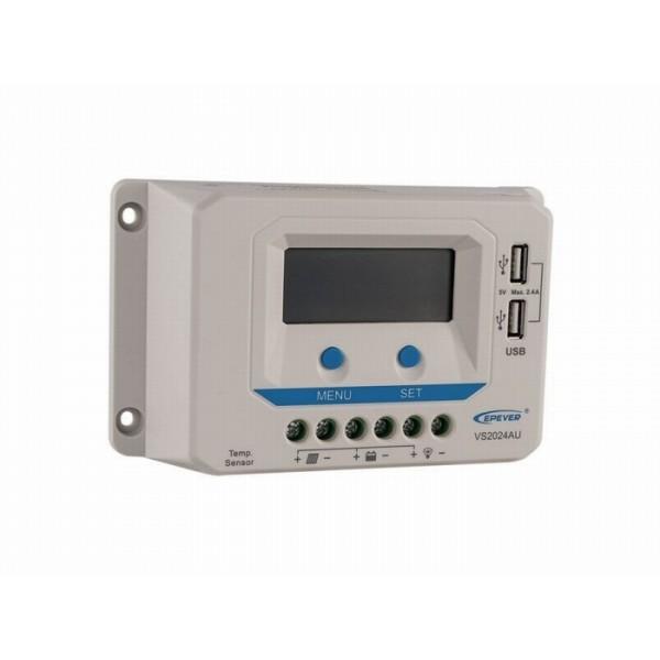 EPEver 10A laadregelaar ViewStar VS1024AU met display en USB