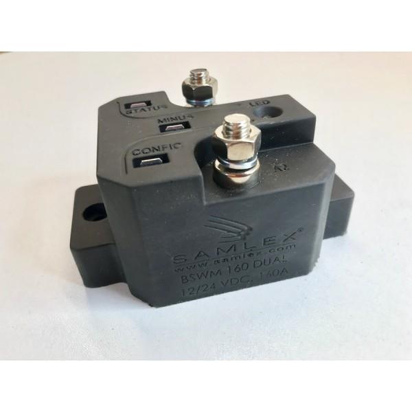 Samlex BSWM160 Laadstroomverdeler met trilsensor 12/24V, 160 ampere