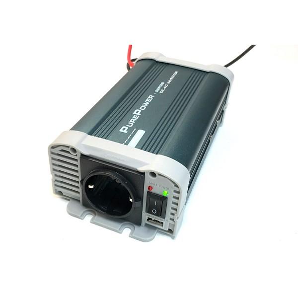 Xenteq 300-212 PurePower 12 naar 230 volt Sinus Omvormer, 300 watt