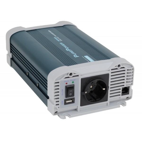 Xenteq 600-212C PurePower 12 naar 230 volt Sinus Omvormer, 600 watt