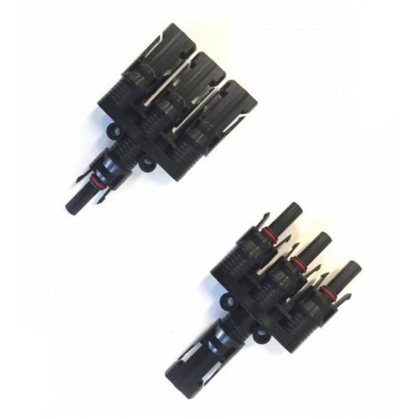 Triple MC4 splitter set